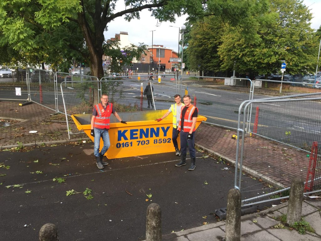 Kenny Waste Management supports a trainee manager with his community challenge